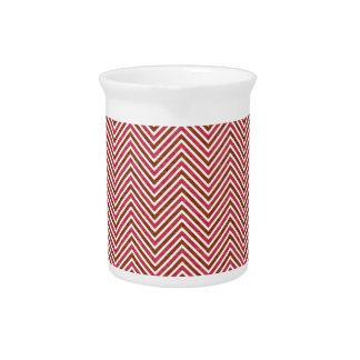 Chevron van de Pastelkleur van het monogram de Drink Pitcher