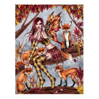 Cheyanna - het Briefkaart van de Fee van de Herfst