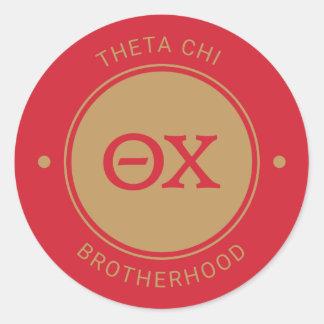 Chi | van de theta Kenteken Ronde Sticker