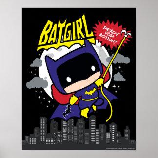 Chibi Batgirl Klaar voor Actie Poster