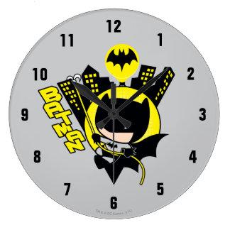 Chibi Batman die de Stad schrapen Grote Klok