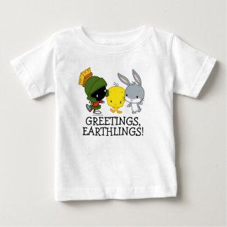 Chibi MARVIN MARTIAN™, TWEETY™, & de INSECTEN Baby T Shirts