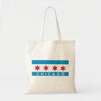 Chicago Amerika van de stadsvlag tekstnaam Draagtas