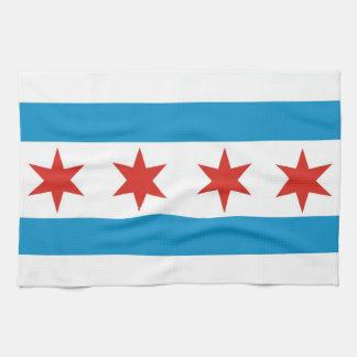 Chicago de handdoek de V.S. van de stadsvlag