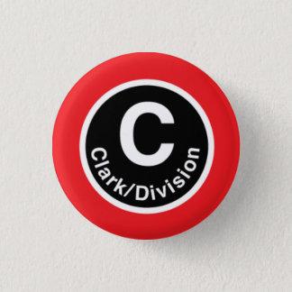 Chicago L Clark/de Rode Lijn van de Afdeling Ronde Button 3,2 Cm
