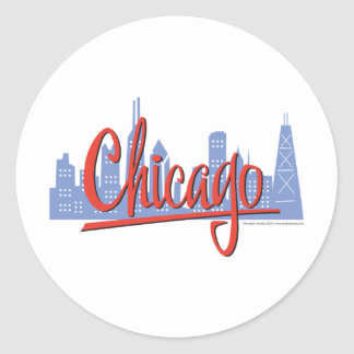 Chicago-ROOD Ronde Sticker