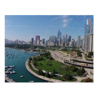 Chicago van de binnenstad briefkaart