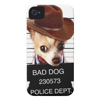 chihuahua cowboy - sheriffhond iPhone 4 hoesje
