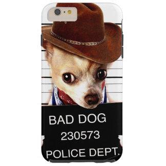 chihuahua cowboy - sheriffhond tough iPhone 6 plus hoesje