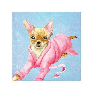 Chihuahua in een Druk van het Canvas van de Hond