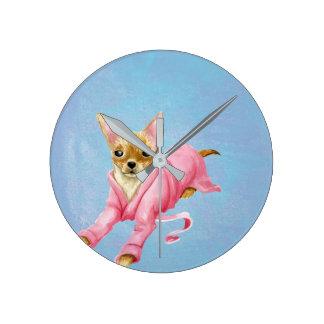 Chihuahua in een Klok van de Muur van de Hond van