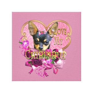 Chihuahua Mooie in de Roze Ventilator van de Chi Canvas Afdruk
