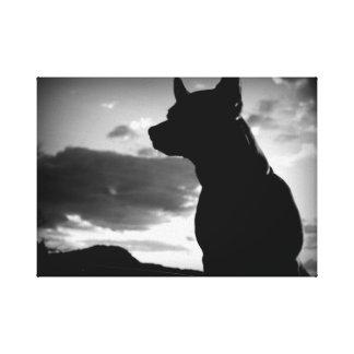 Chihuahua op wacht canvas afdruk