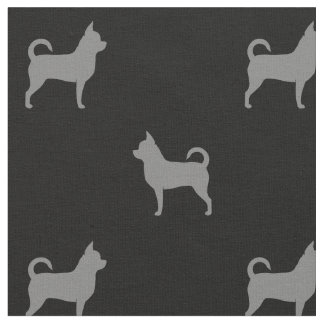 Chihuahua silhouetteert Patroon Stof