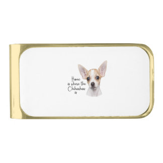 Chihuahua Vergulde Geldclip