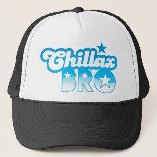 Chillax Bro!  ONTSPAN EN KOEL broer in koel Blauw Trucker Pet