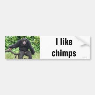 Chimpansee in Afrika Bumpersticker