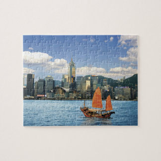 China; Hong Kong; De Haven van Victoria; Haven; A Foto Puzzels