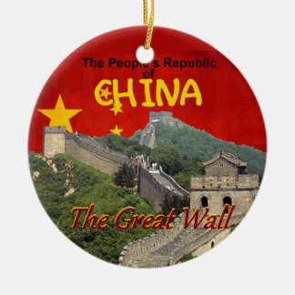 CHINA ROND KERAMISCH ORNAMENT