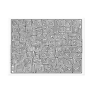 Chinees Confucianisme I Labyrint door Blaise Gauba Canvas Afdrukken