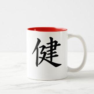 Chinees gezondheidsteken tweekleurige mok