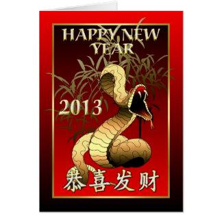 Chinees Nieuw jaar-2013-Jaar van de Slang Kaart