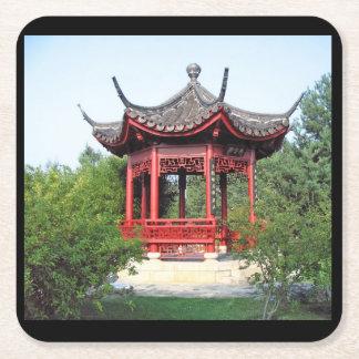 Chinees theehuisonderzetter vierkante onderzetter