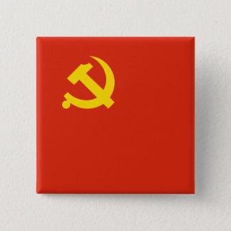 Chinese Communistische Partij, Colombia Vierkante Button 5,1 Cm