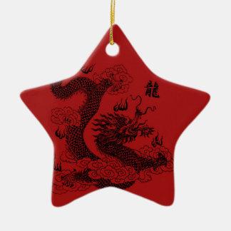 Chinese Draak Keramisch Ster Ornament