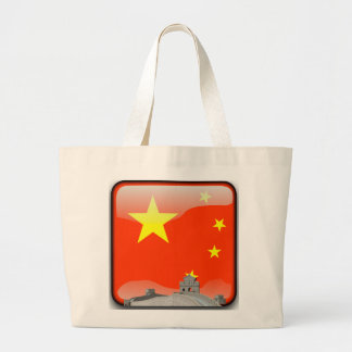 Chinese glanzende vlag grote draagtas
