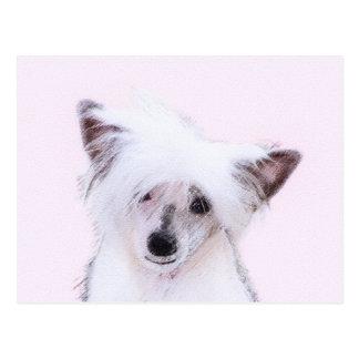 Chinese KuifPowderpuff die - het Art. van de Hond Briefkaart