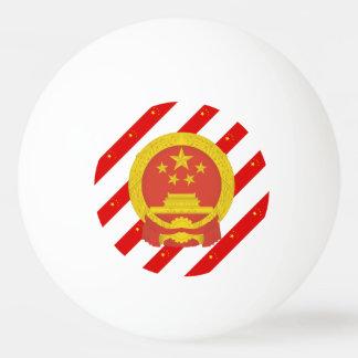 Chinese strepenvlag pingpongbal