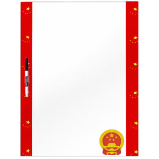 Chinese strepenvlag whiteboard