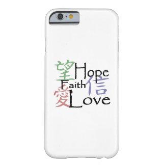 Chinese symbolen voor liefde, hoop en geloof barely there iPhone 6 hoesje