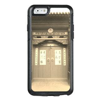 Chinese Traditionele Houten Poort en Kalligrafie OtterBox iPhone 6/6s Hoesje