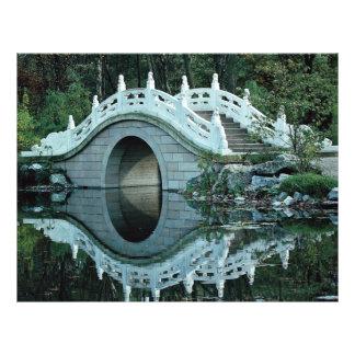 Chinese tuin, Duisburg Dierentuin, Duitsland Flyer 21,6 X 27,9 Cm
