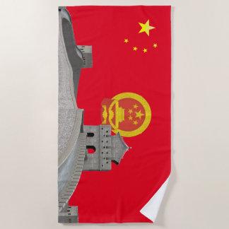 Chinese vlag strandlaken