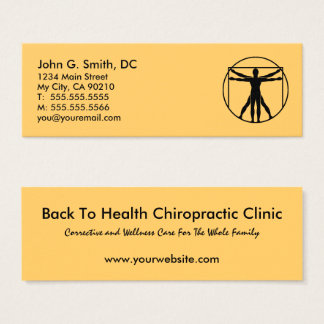 Chiropracticus van de Verwijzing van het Logo van Mini Visitekaartjes