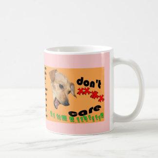 Chiweenie geeft niet koffiemok