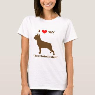 Chocolade Boston Terrier - Dames T T Shirt