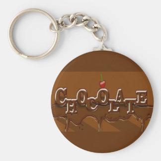 Chocolade Keychain Basic Ronde Button Sleutelhanger