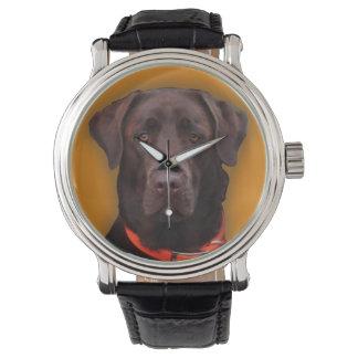 Chocolade Labrador Horloge