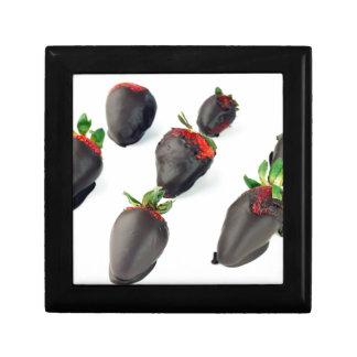 Chocolade Ondergedompelde Aardbeien Decoratiedoosje