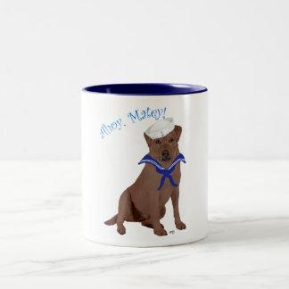 Chocoladebruine Labrador Tweekleurige Koffiemok