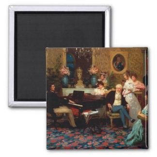 Chopin die de Piano spelen Vierkante Magneet