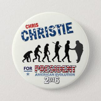 Chris Christie voor President 2016 Ronde Button 7,6 Cm