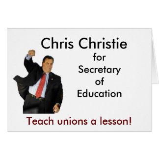 Chris Christie voor Secretaresse van Onderwijs Briefkaarten 0