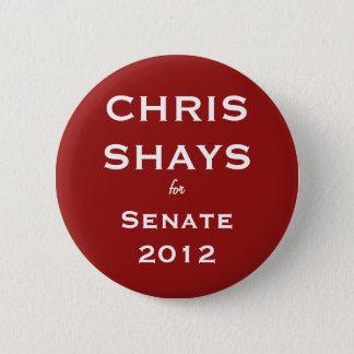 Chris Shays voor de Knoop van de Senaat Ronde Button 5,7 Cm