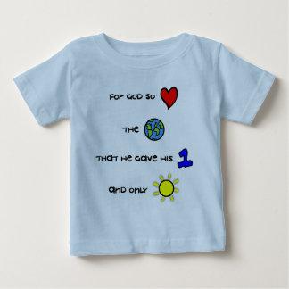 Christelijk babyt-shirt - voor God hield zo van de Baby T Shirts