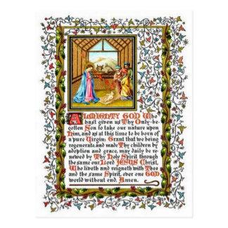 Christelijk Gebed met Geboorte van Christus Briefkaart